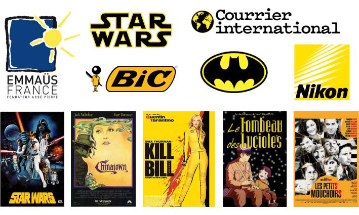 Logos et affiches jaune - Studio JL