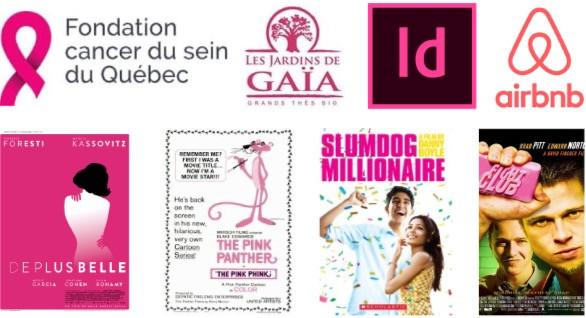 Logos et affiches rose - Studio JL