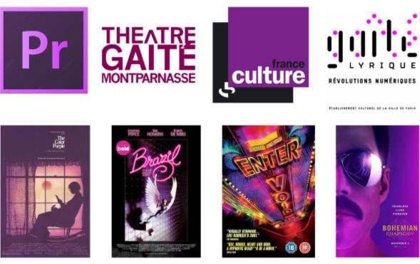 Logos et affiches violet - Studio JL