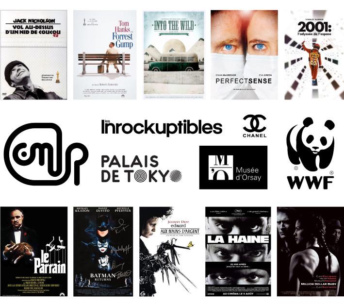Logos et affiches noir blanc - Studio JL