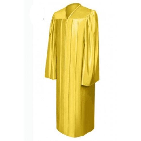 Gold Satin Graduation Gown