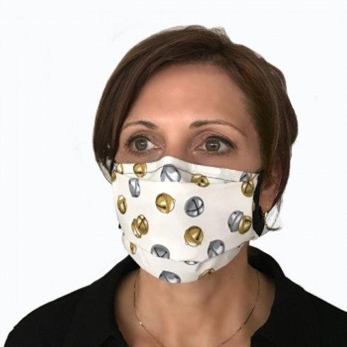 Jingle Bells Center Pleat Style Mask