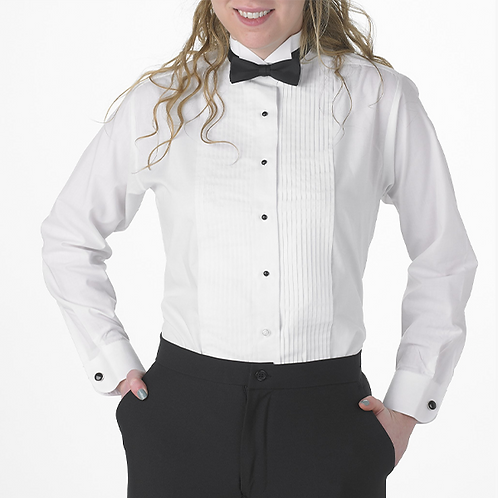 Tuxedo Shirt Lay Down Collar - Standard Size Female