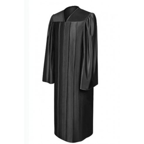 Black Satin Graduation Gown