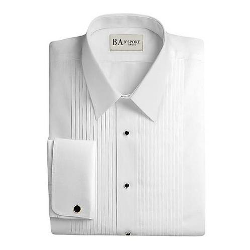 Tuxedo Shirt Lay Down Collar - Standard Size Male