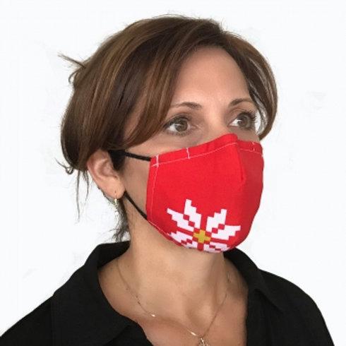 Pixel Snowflakes Contour Mask