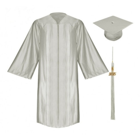 Satin Graduation Gown, Cap and Tassel