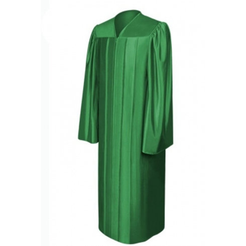 Green Satin Graduation Gown