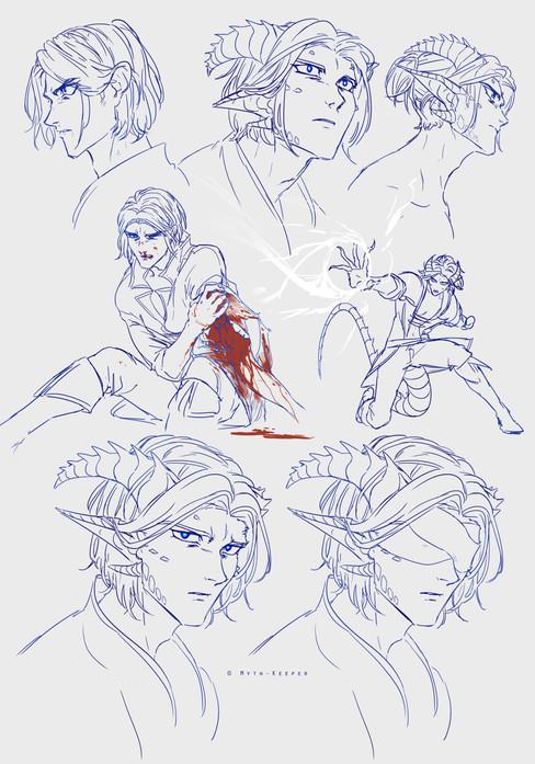 Reader concept sketches