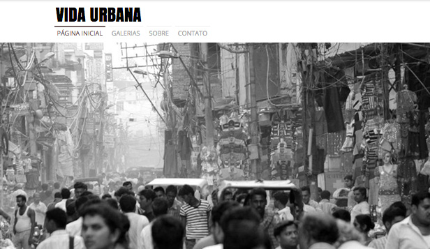 Viagens e Documental website templates – Fotografia de Rua