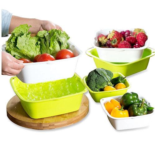 瑞典【GREEGREEN】 蔬果瀝水籃 瀝水盒 六件組