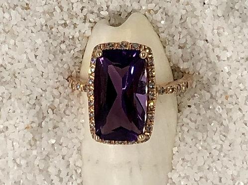 Amethyst Ring~14kt Rose Gold