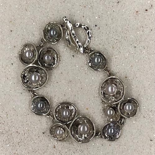Hagit Gorali Multi-Pearl Sterling Silver Bracelet
