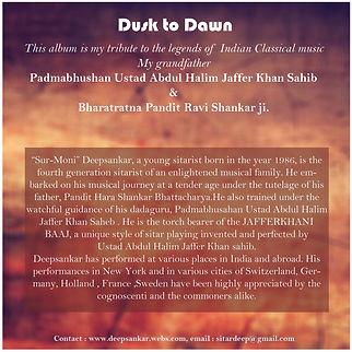 Audio cd of Deepsankar.