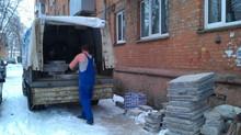Вывоз строительного мусора. Рабочие моменты.