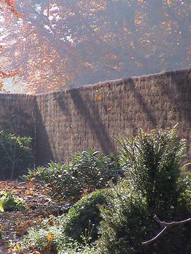 Clôture natte de bruyère