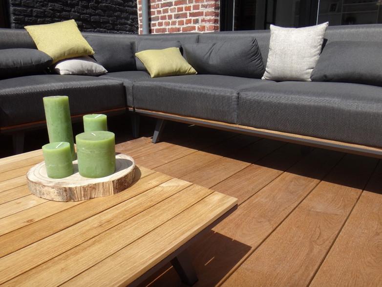Terrasse en bois exotique