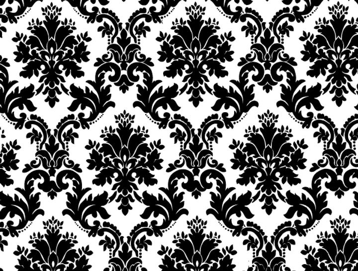 158-black-white-floral-background-vector