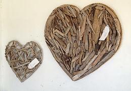 Driftwood Wall Hearts