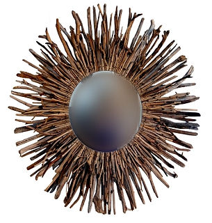 Driftwood Sun Mirrors