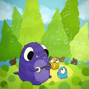 forest-musicians-digital-illustration