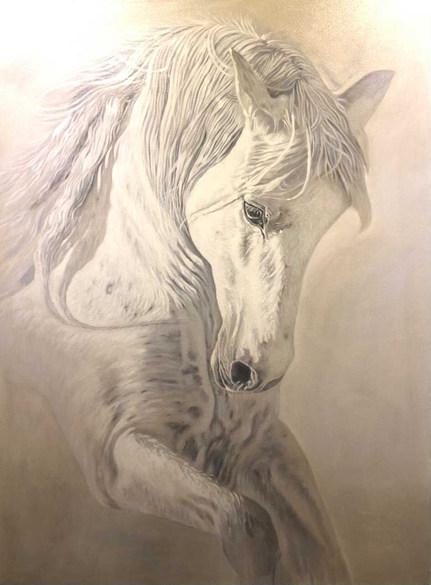 Ethereal White Horse