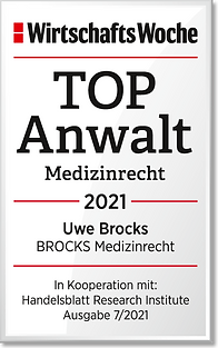 WiWo_TOPAnwalt_Medizinrecht_2021_Uwe_Bro