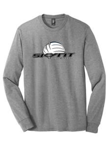 DM132 Grey LS Tee w/ Skynt Logo