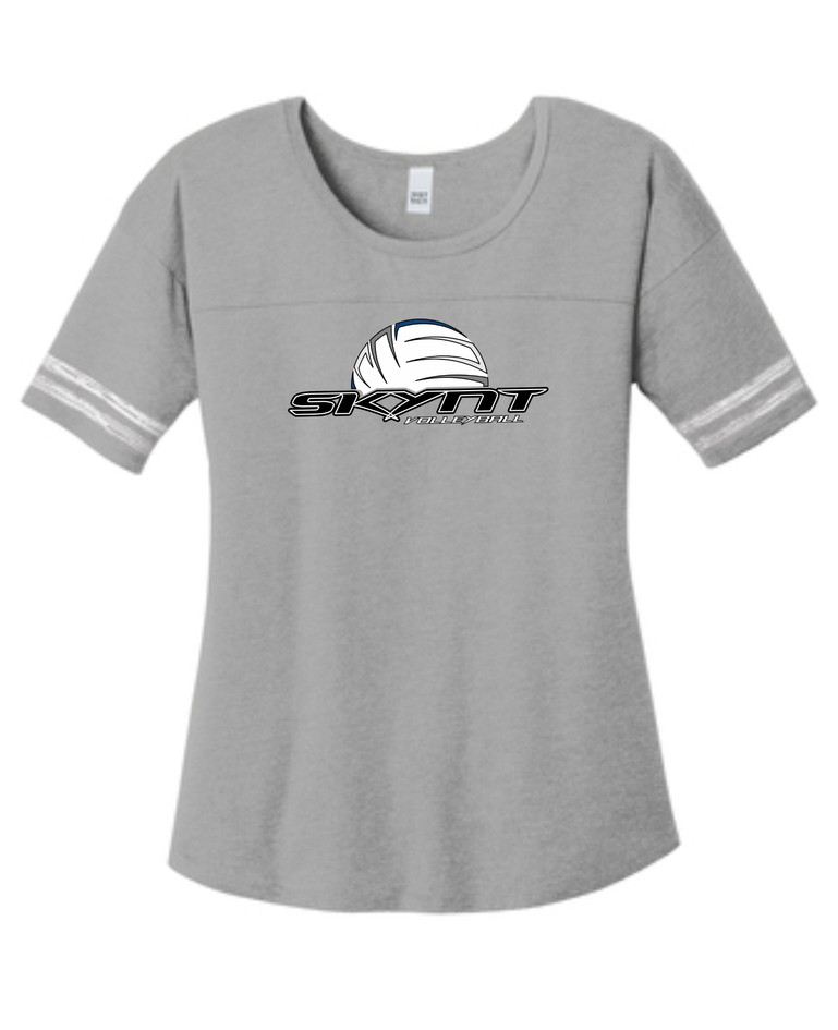 DT487 Grey Ladies Scorecard Tee w/ Skynt Logo