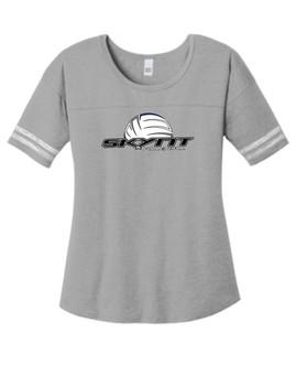 DT487 Grey Ladies Scorecard Tee w/ Skynt Logo