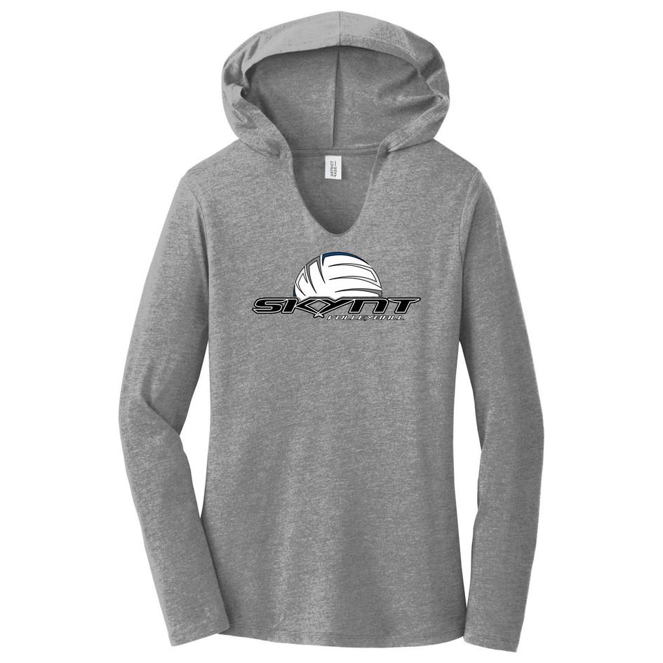 DM139L Grey LS Hoodie T w/ Skynt Logo