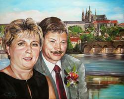Doris und Klaus, vor Kulisse von Pra