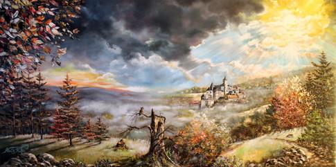 Frühnebel am Schloss Wernigerode