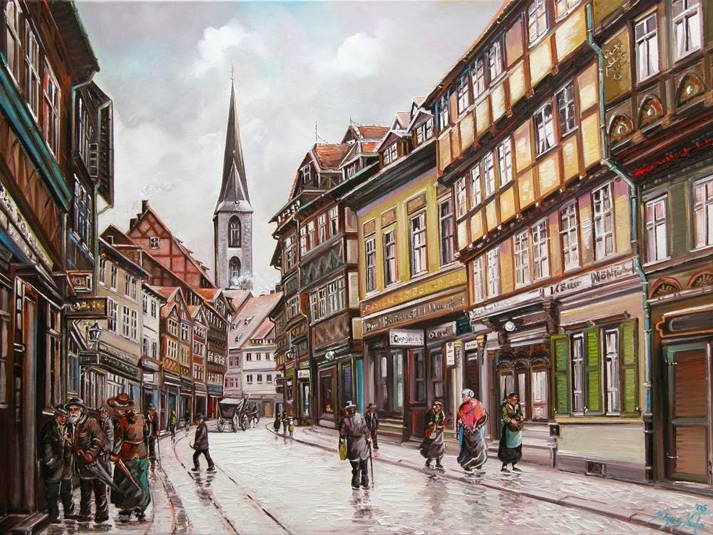 Alt Halberstadt, Hoher Weg bei Regen