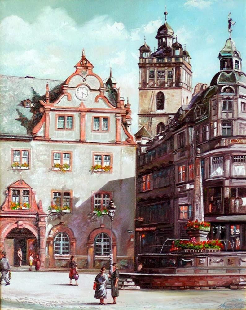 Alte Stadtansicht von Darmstadt
