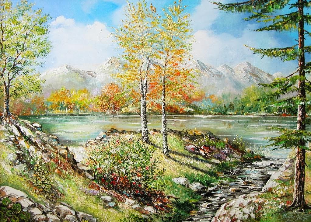 Landschaft am Gebirge