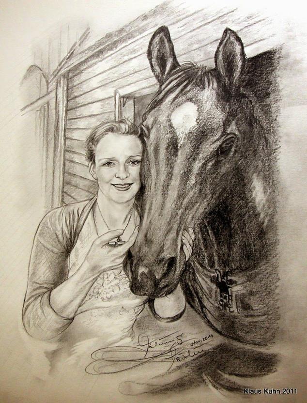 Anja mit Lieblingspferd