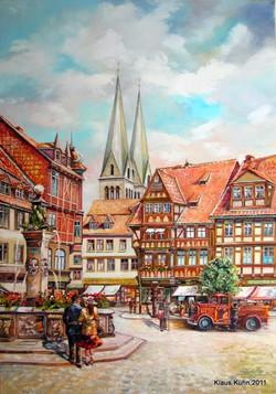 Alt-Halberstadt, Holzmarkt mit Blick