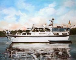 070-Hausboot-Oel-auf-Leinwand-40-X-50-cm-2006