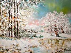 Vorharzlandschaft Wintermotiv