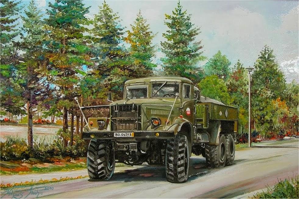 160-Armeefahrzeug-Auftragsarbeit-Oel-auf-Leinwand-50-X-70-cm-2011