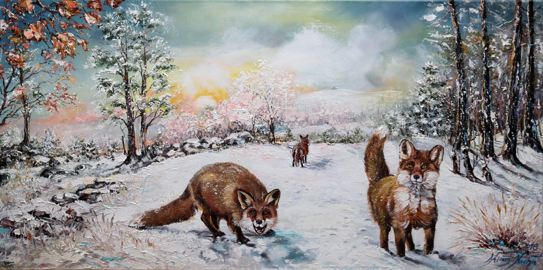 Ranzende Füchse mit Brockenblick