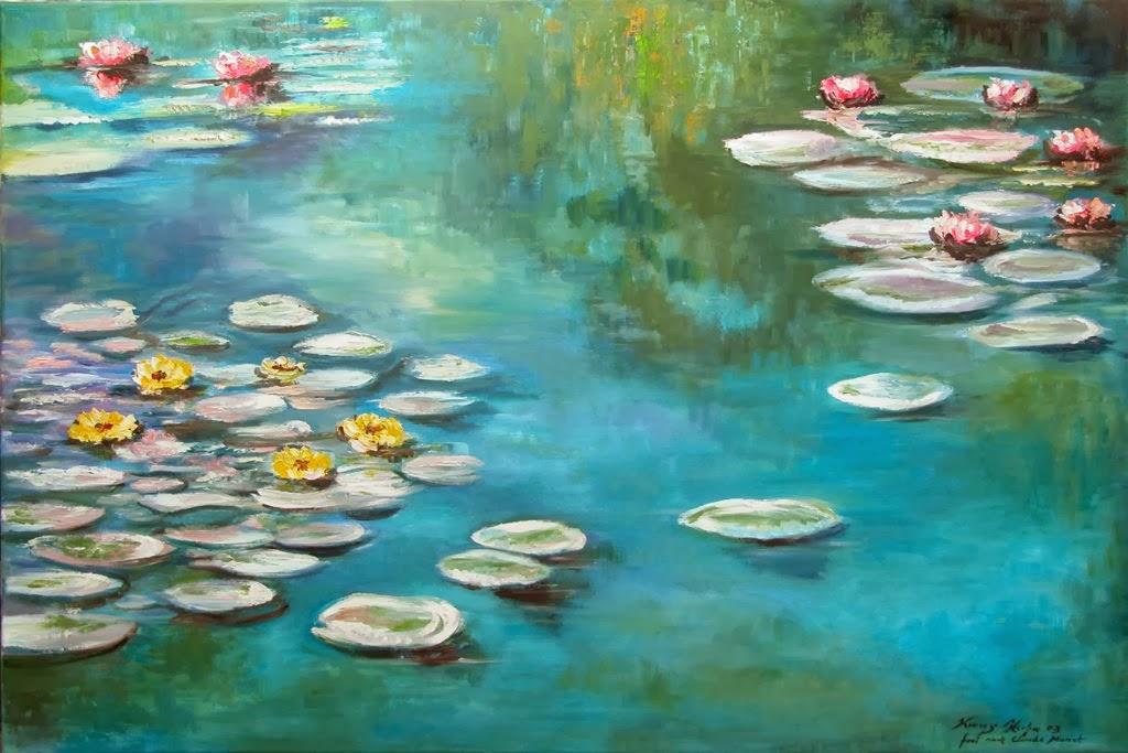 Seerosen frei nach C Monet