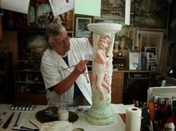 310-Fassung-von-Skulpturen-Oelfarben-auf-Gessogrundierung-2011