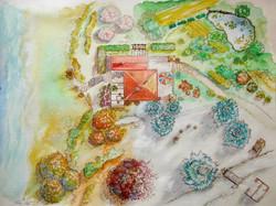 130-Landschaftsdarstellung-aus-Vogelperspektive-Aquarell-60-X-80cm-2005