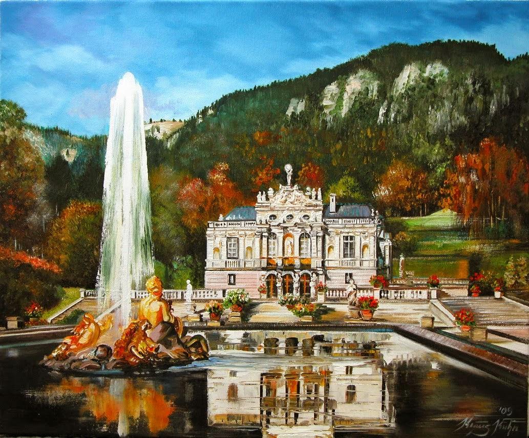 Schloss Linderhof nach einem Foto vo