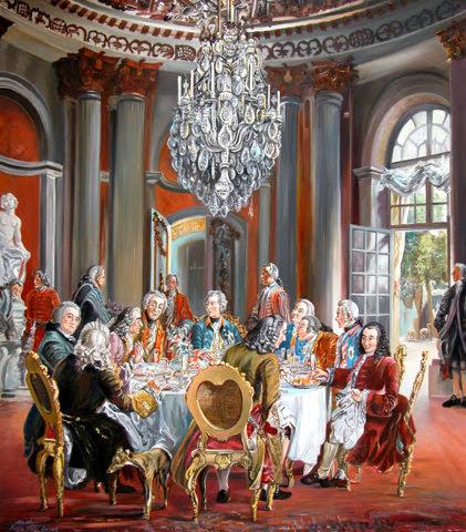 Friedrich der Grosse in Sancoussi