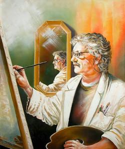 Selbstportrait mit Spiegelbild