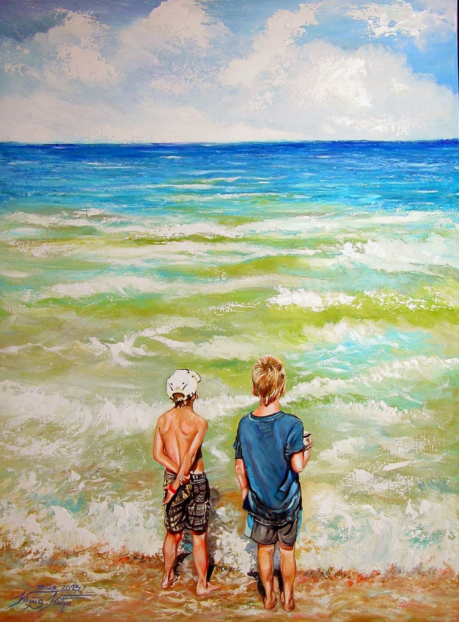 Endlose Weiten Kinder am Strand