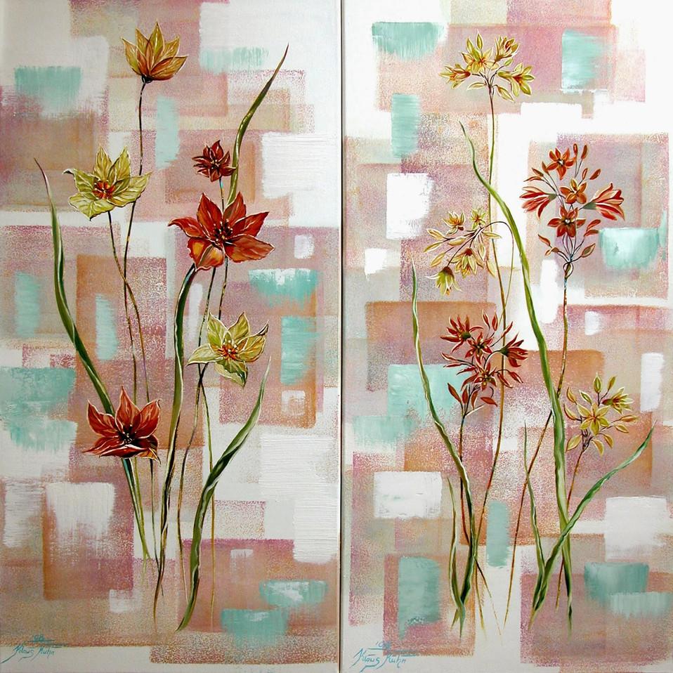 Feldblumen und Graeser